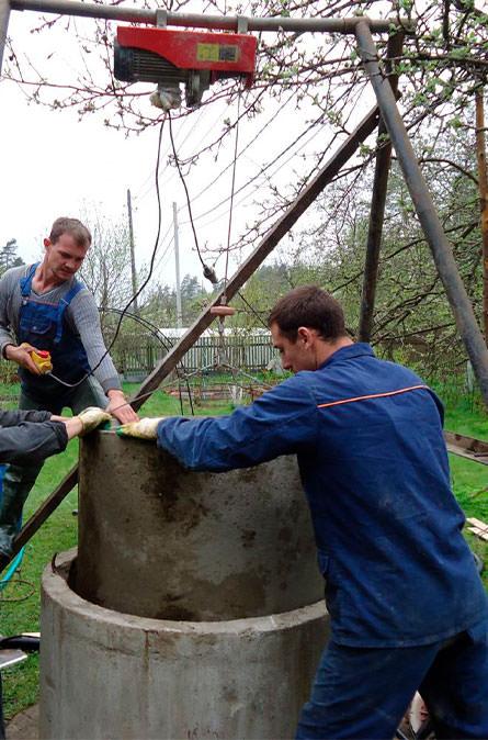 Как мы углубляем колодец в Мытищинском районе