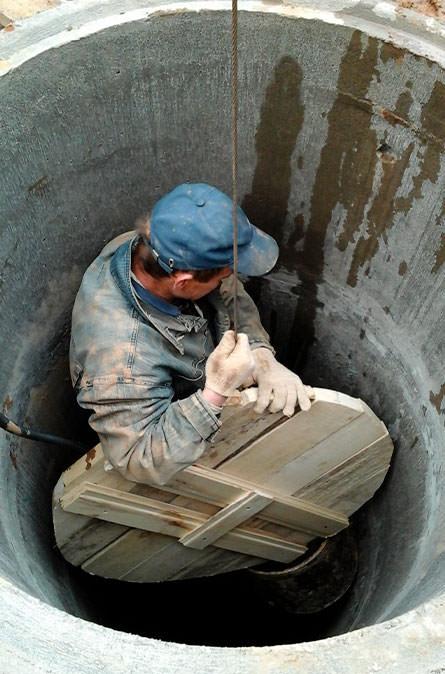Как мы выполняем чистку колодца в Мытищинском районе