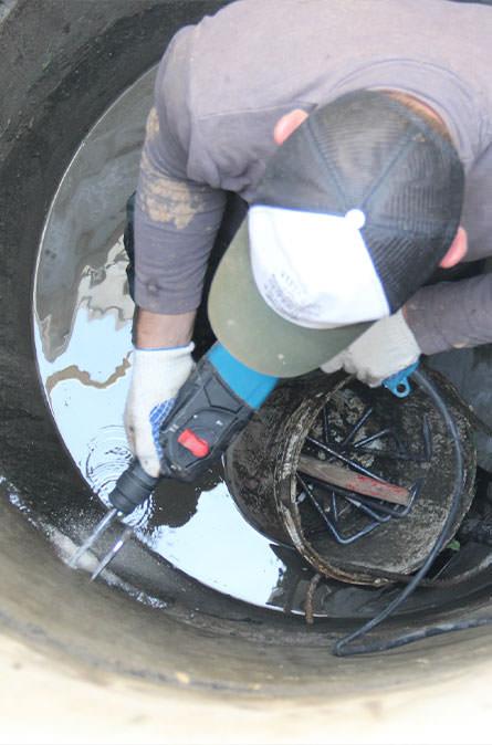 Как мы выполняем ремонт колодцев в Мытищинском районе
